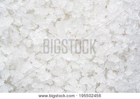 close up flower of sea salt crystals