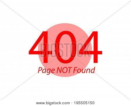 Page Not Found Error 404 Flat vector illustration