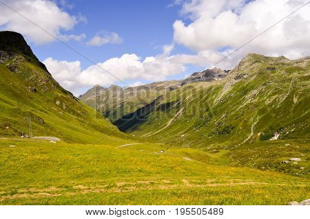 The Silvretta massif in the Central Eastern Alps in Austria