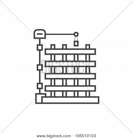 outline new building icon. concept of progress, reconstruction, engineering project, property, newbuilding. isolated on white background. thin line style trend modern logo design vector illustration