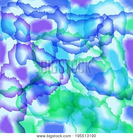 vector bright colored watercolor background - green blue and violet