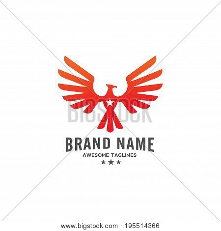 best phoenix logo concept, luxury eagle bird consulting element logo icon concept,