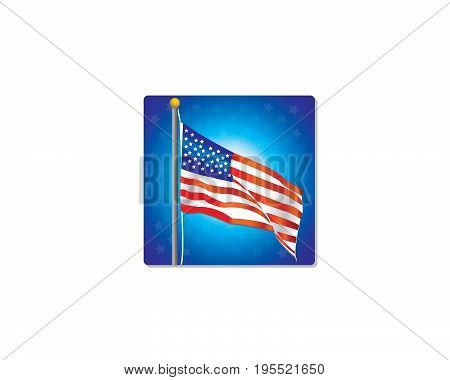 Here is Old Glory in all her glory.