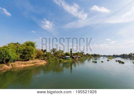 Bridge On Don Khon Laos