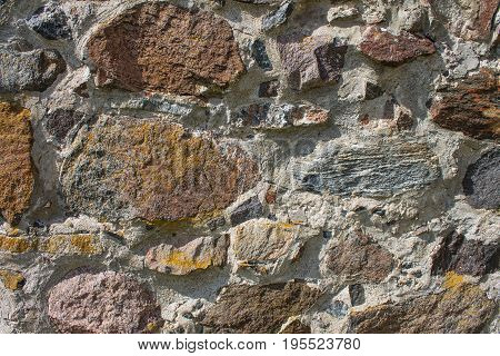 Old stone wall exterior background with good texture