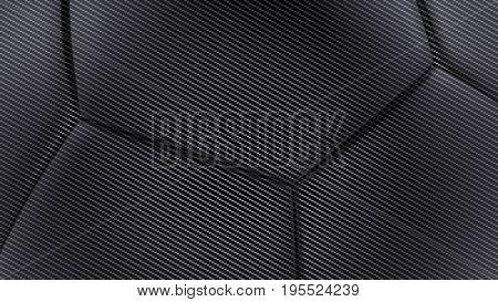 Carbon fiber soft hexagonal shape background 3d render