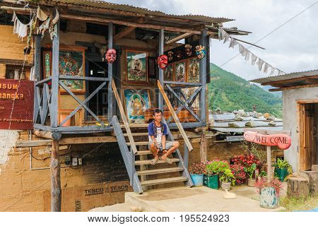 Punakha, Bhutan - September 15, 2016: Phallus Souvenir Shop In Bhutan.