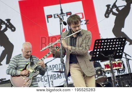 Saint Petersburg Russia - July 16 2017: XIII annual international festival