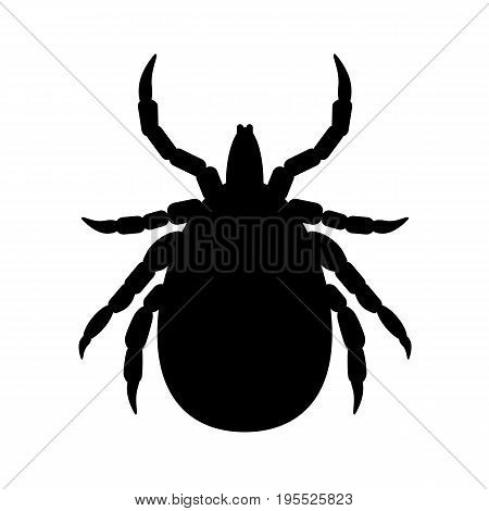 the vector black silhouette mite without background