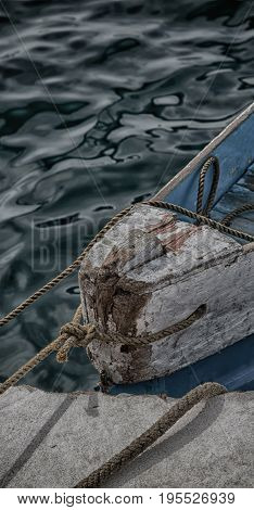 Old Dirty Prow Of A Boat In The Port Like Abstract