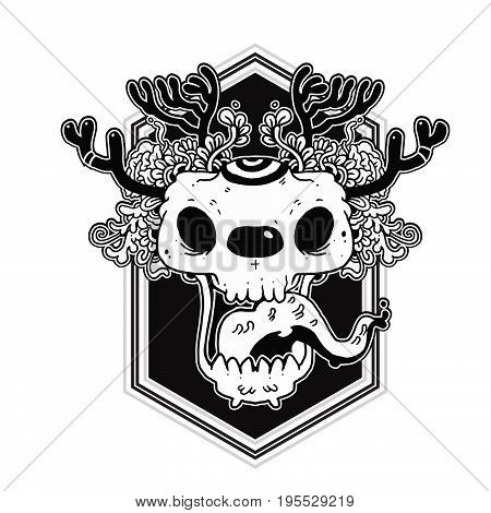 The skull-shaped character design in Thai style is designed for everyone, hope everyone will like it.