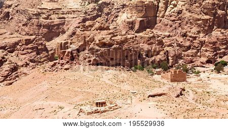 From High  The Antique Site Of Petra