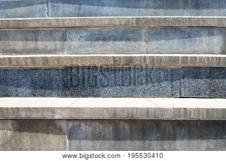 Abstract Modern Concrete Stairs To Building - Stairway Composition