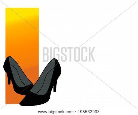 Illustration. High heels. Stilettos. Shoes. White background