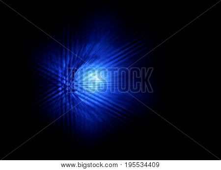 Abstract Glow Light Background - Blue Color