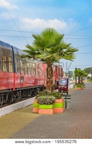 Touristic Old Train Parked, Guayas, Ecuador