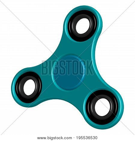 Fidget hand 3d spinner toy for increased focus, stress relief. Relaxation device. Vector illustration.
