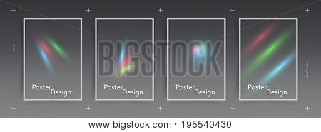 RGB Colors. Abstract light effect. Minimalistic Cover design. Vector.
