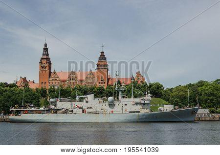 WARSHIP - Belgian corvette at the quay in Szczecin