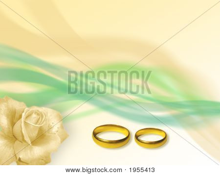 Wedding Rings In Soft Background