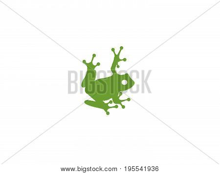 This is a vector green tree frog.