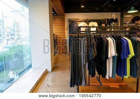 SEOUL, SOUTH KOREA - CIRCA MAY, 2017: inside Nike store in Seoul.