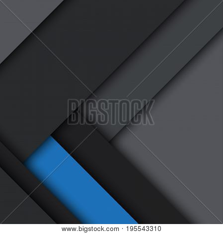 Black and blue modern material design vector abstract background