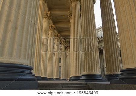 Kazan Cathedral, Saint-Petersburg, Russia. colonnade, summer 2016