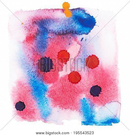 Color retro vintage abstract watercolour aquarelle art hand drawn paint.