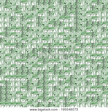 Abstract Grunge Green Texture Fractal Patterns