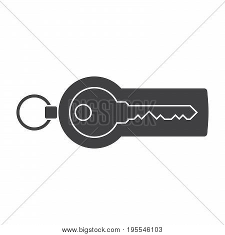 Security token with key for online banking, vector silhouette