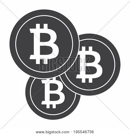 Bitcoins icon for cryptocurrency, virtual currency, digital money, ecash