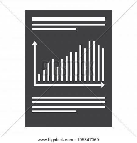 Financial report concept with document, vector illustration