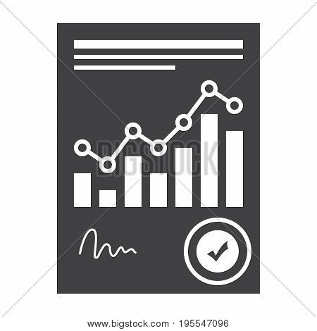 Concept of financial statement with document, vector illustration