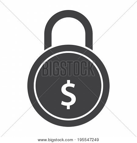 Secured loan concept with golden lock and dollar sign