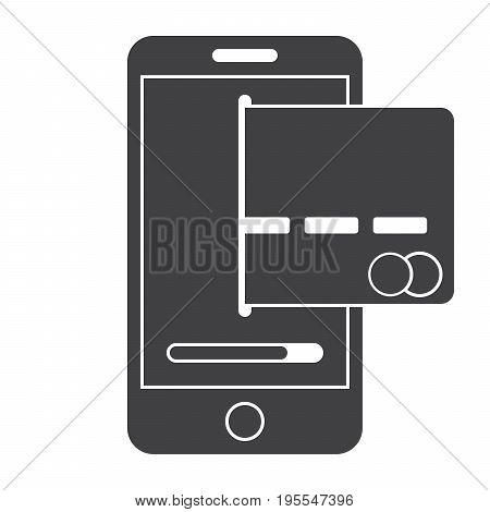 Concept for mobile banking and online payment with credit card and smartphone