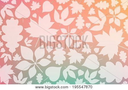 Autumn background with leaves. Abstract autumn leaves