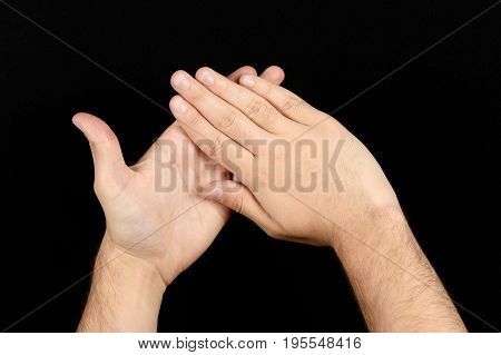 The Language Of The Deaf English Version Of The Gesture The Letter H Signaling Bsl