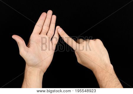 The Language Of The Deaf English Version Of The Gesture The Letter U Signaling Bsl
