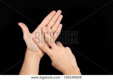 The Language Of The Deaf English Version Of The Gesture The Letter V Signaling Bsl