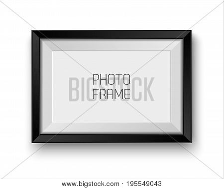 Realistic vector picture frame isolated on white background with blank space for your photo