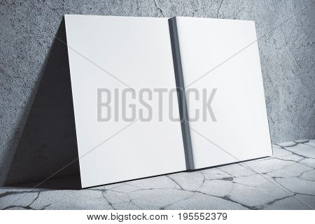 White Hardcover Copybook Side