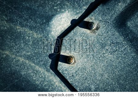 abstract background or texture shadow for riveting iron plates
