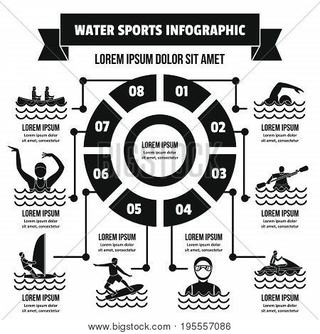 Water sport infographic banner concept. Simple illustration of water sport infographic vector poster concept for web