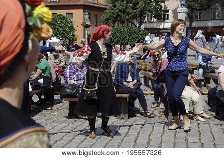 International Intangible Cultural Heritage Festival ''LAUKSNOS '' 07.15.2017 KLAIPEDA