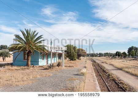 KEIMOES SOUTH AFRICA - JUNE 12 2017: The unused railway station in Keimoes in the Northern Cape Province