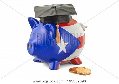Savings for education in Puerto Rico concept 3D rendering
