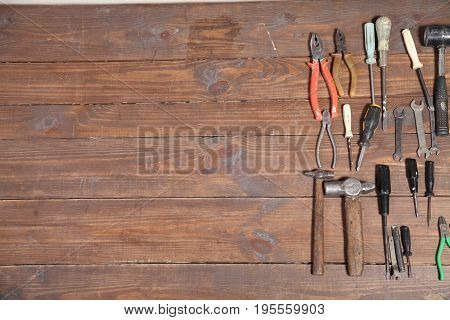 instrument for repair knives hammers keys pliers