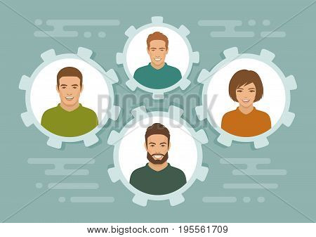 smile people group, business team, team work concept