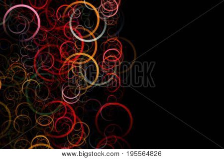 Fantastic Elegant Circle Background Design Illustration With Space For Your Text